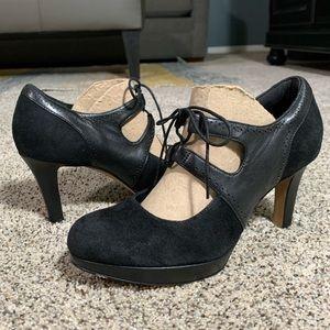 Clarks Artisan Mary Jane Platform Heels